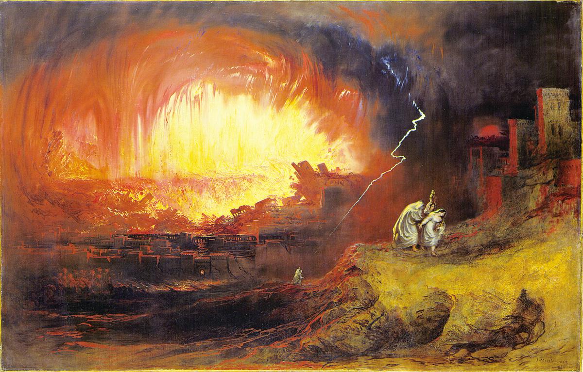 John Martin的油畫——索多姆和蛾摩拉的毀滅。(維基百科)