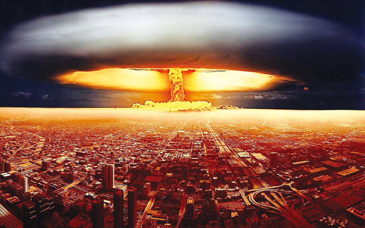 核爆炸構想圖。( 網絡圖片)