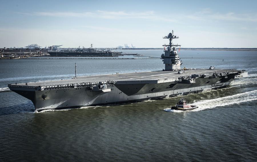 世界最先進航母 美國福特號即將出征