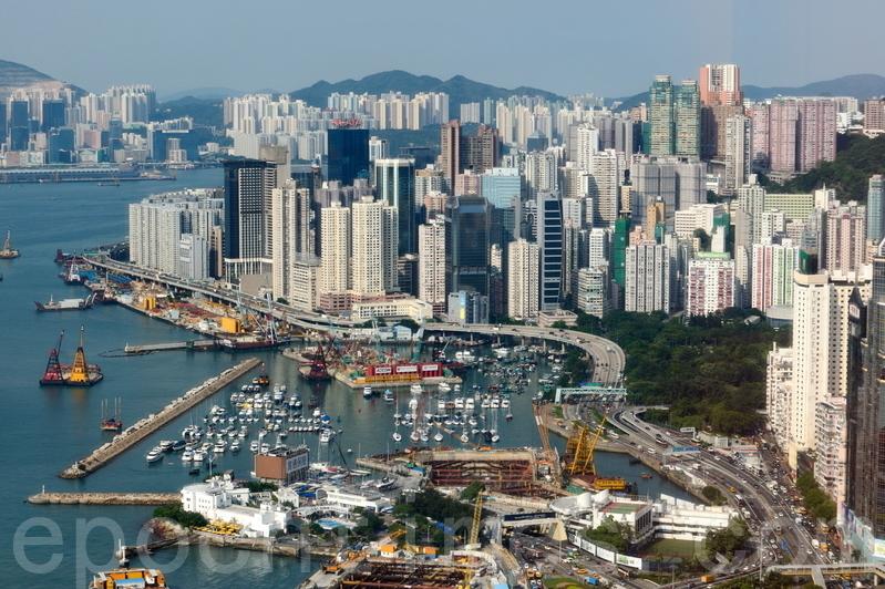 信置及由郭炳湘任主席的帝國集團以25.28億元投得黃竹坑地皮,為港島商貿地有紀錄最高。(大紀元資料圖片)
