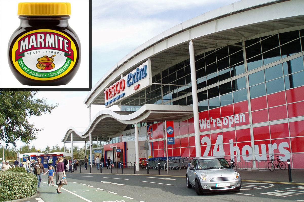 英國最大的連鎖超市特速購(Tesco)已暫停販賣知名品牌Ben&Jerry's雪糕和「馬麥醬」(Marmite)等商品,原因是Tesco不同意承受不住英鎊下跌壓力的供應商,要求調漲價格。(Mankind 2k,維基百科公有領域、小圖:Tesco網站)