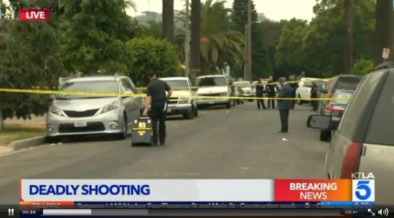 洛杉磯一家餐廳15日凌晨爆發的爭執,最終演變成一場槍戰,導致3人死亡和12人受傷送醫,其中兩人重傷。(視像擷圖)
