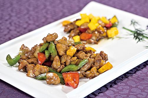 魯菜中的爆炒雞丁。