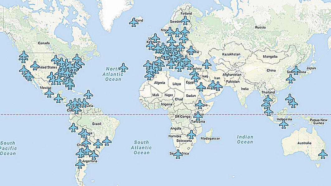 全球各大機場WiFi密碼 工程師建立互動地圖曝光