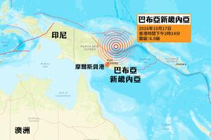 巴布亞新畿內亞6.9級強烈地震