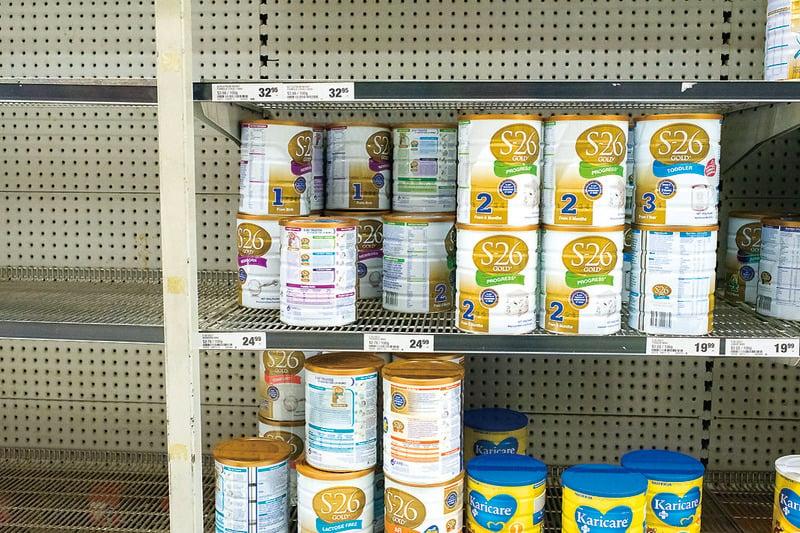 悉尼超市很多奶粉都被購空。(Getty Images)
