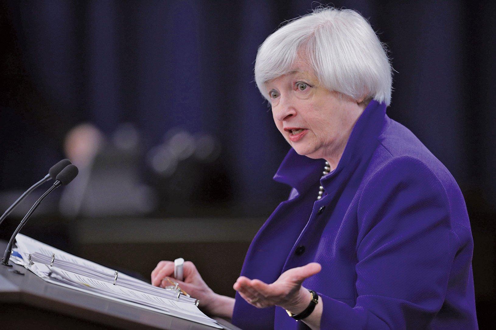 美聯儲主席耶倫14日提出「高壓經濟」之說,很可能為美聯儲12月不加息做鋪墊。(Getty Images)
