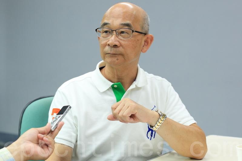 年興紡織前總經理黃士坤在公司任職總經理23年,現任逢甲大學纖維與複合材料系兼任教授。他以親身經驗體會到,修煉法輪功受益無窮。(許基東/大紀元)