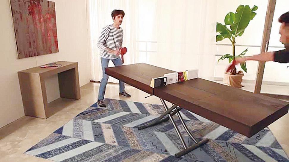 Newood茶几還可以用來做乒乓球桌。