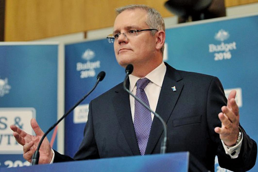 澳洲財長莫里森(Scott Morrison)拒絕中資對澳洲最大電網Ausgrid的競標。(Stefan Postles/Getty Images)