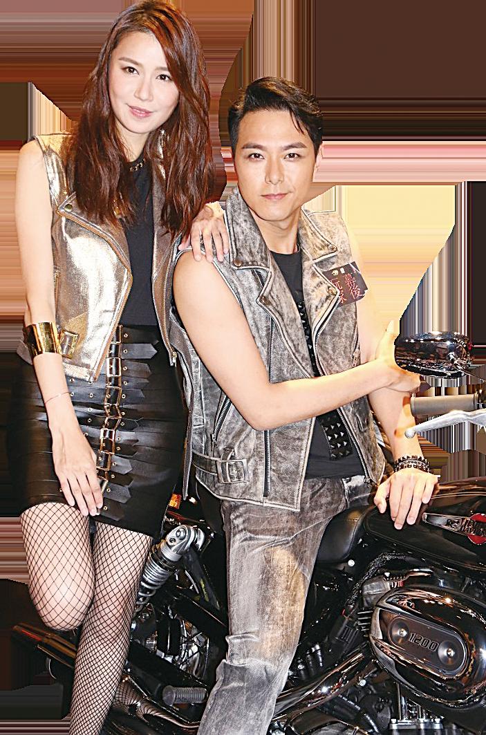 蕭正楠和黃翠如情侶檔宣傳新劇。(網絡圖片)