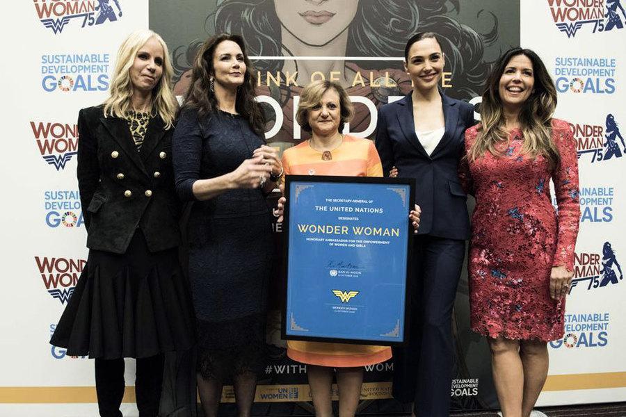 神奇女俠當榮譽大使 聯合國員工抗議