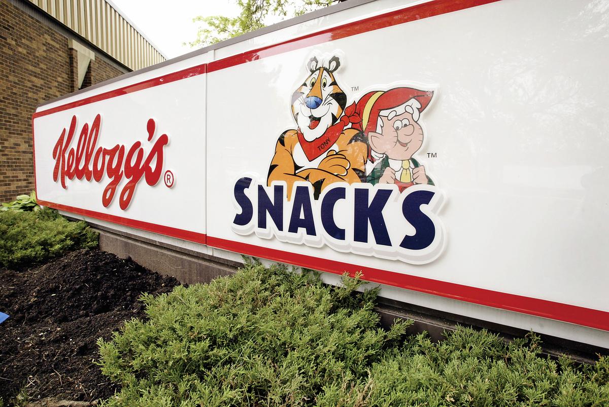 早餐穀麥脆片製造商家樂氏(Kellogg's)近年來受到投資者對高股息孳息率股票的追捧下,股價本益比已高達驚人的42倍。(Getty Images)