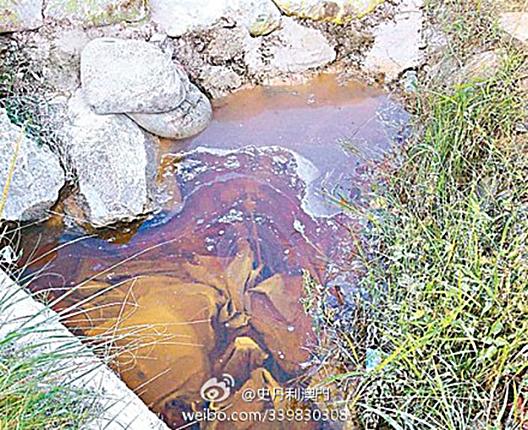 2012年7月初,廣東河源苯酚罐車被撞,毒物洩漏造成嚴重污染,東江現死魚。(互聯網圖片)