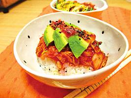 【美味輕簡餐】韓式泡菜牛油果壽司飯