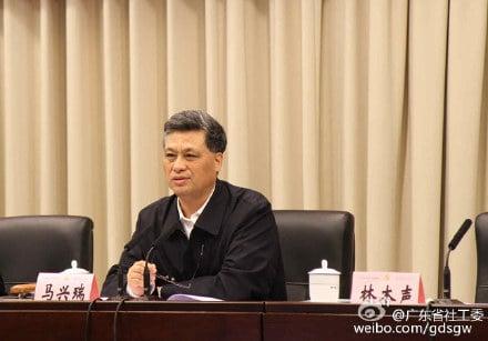 有消息稱,深圳市委書記馬興瑞是下一任廣東省委書記的熱門人選。此前外界分析認為,馬興瑞大有可能在「十九大」進入中央政治局。(網絡圖片)