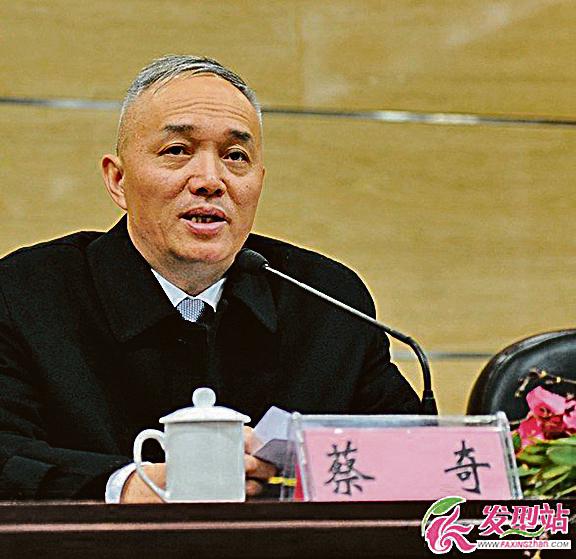 現中共國安委辦公室專職副主任蔡奇(正部級),從副部級的浙江省委組織部長升任現職,僅用了4年時間。(網絡圖片)