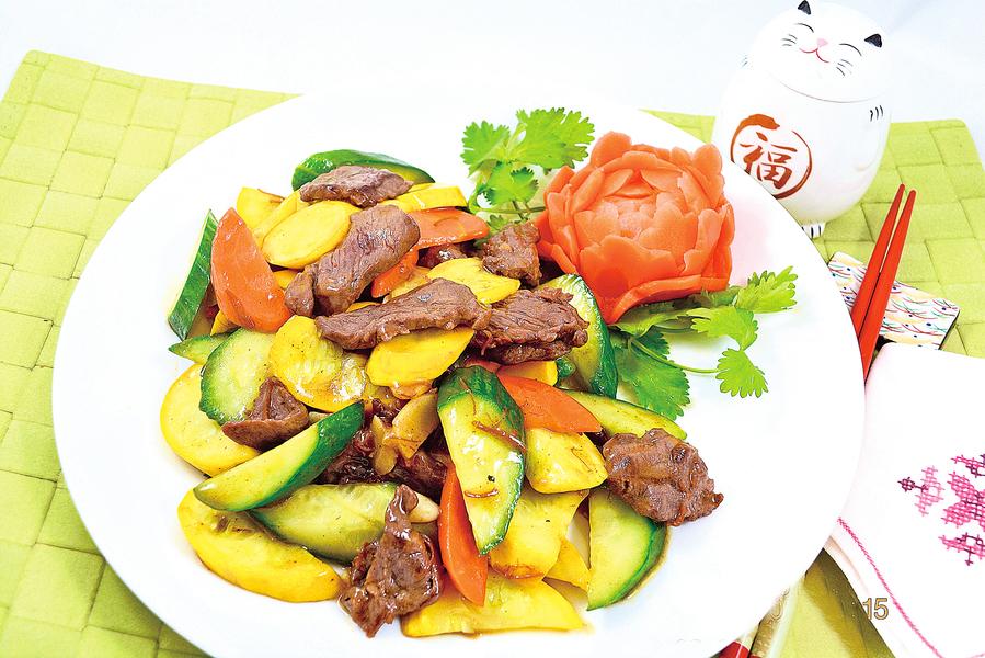 【梁廚美食】XO醬炒雙瓜牛肉