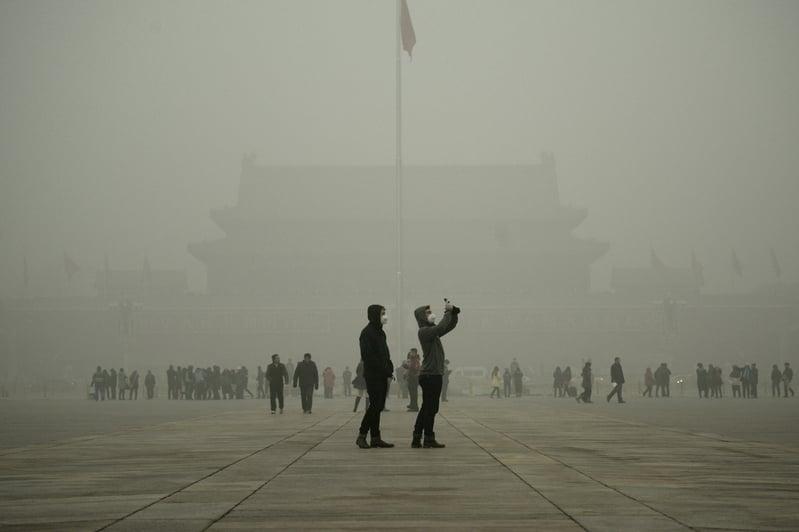 六中全會後31日,習近平親信蔡奇被宣布任北京市代市長。圖為,2015年12月1日,北京天安門廣場。(WANG ZHAO/AFP/Getty Images)