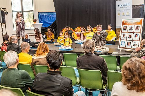 瑞典健康博覽會 法輪功受歡迎