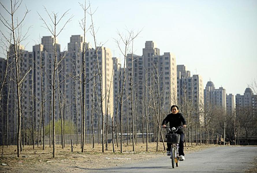大陸樓市成交量大幅下滑
