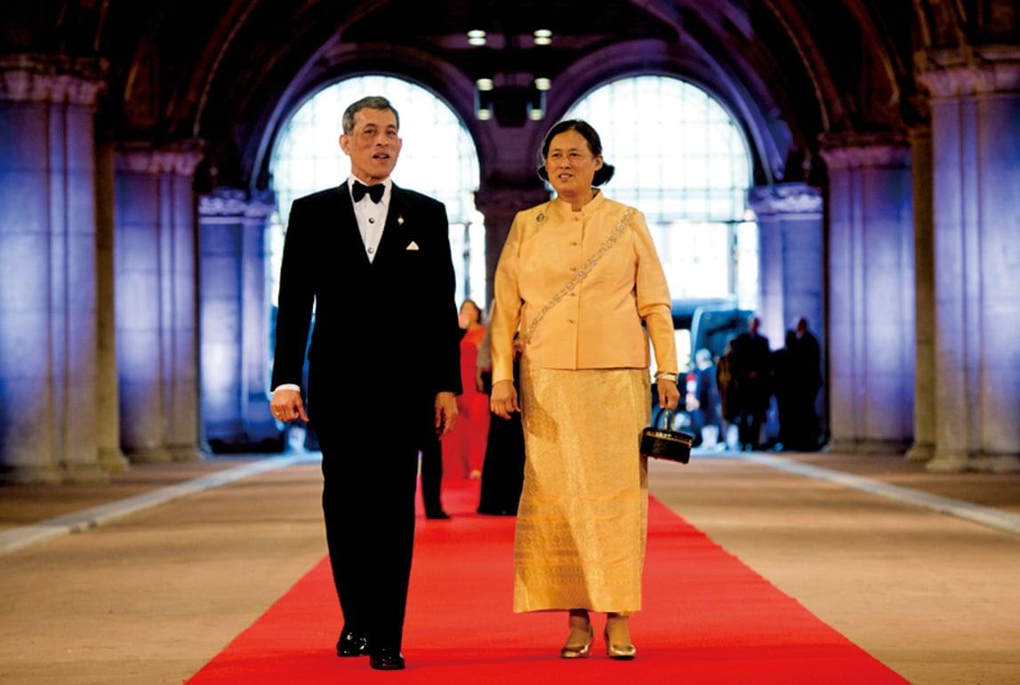 泰國王儲瓦吉拉隆功和他的妹妹公主詩琳通。(AFP)