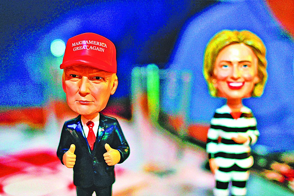 儘管總統候選人醜聞不斷,但對基本盤並沒有太大的影響,因為美國選民最看重的還是選擇「穩定」或「變化」。(AFP)