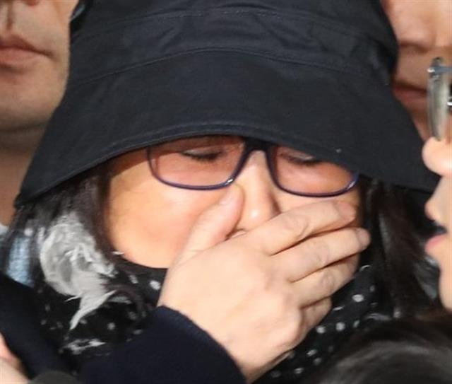 崔順實上月30日從德國返回南韓,第二天隨即在首爾接受調查。(中央社/韓聯社提供)