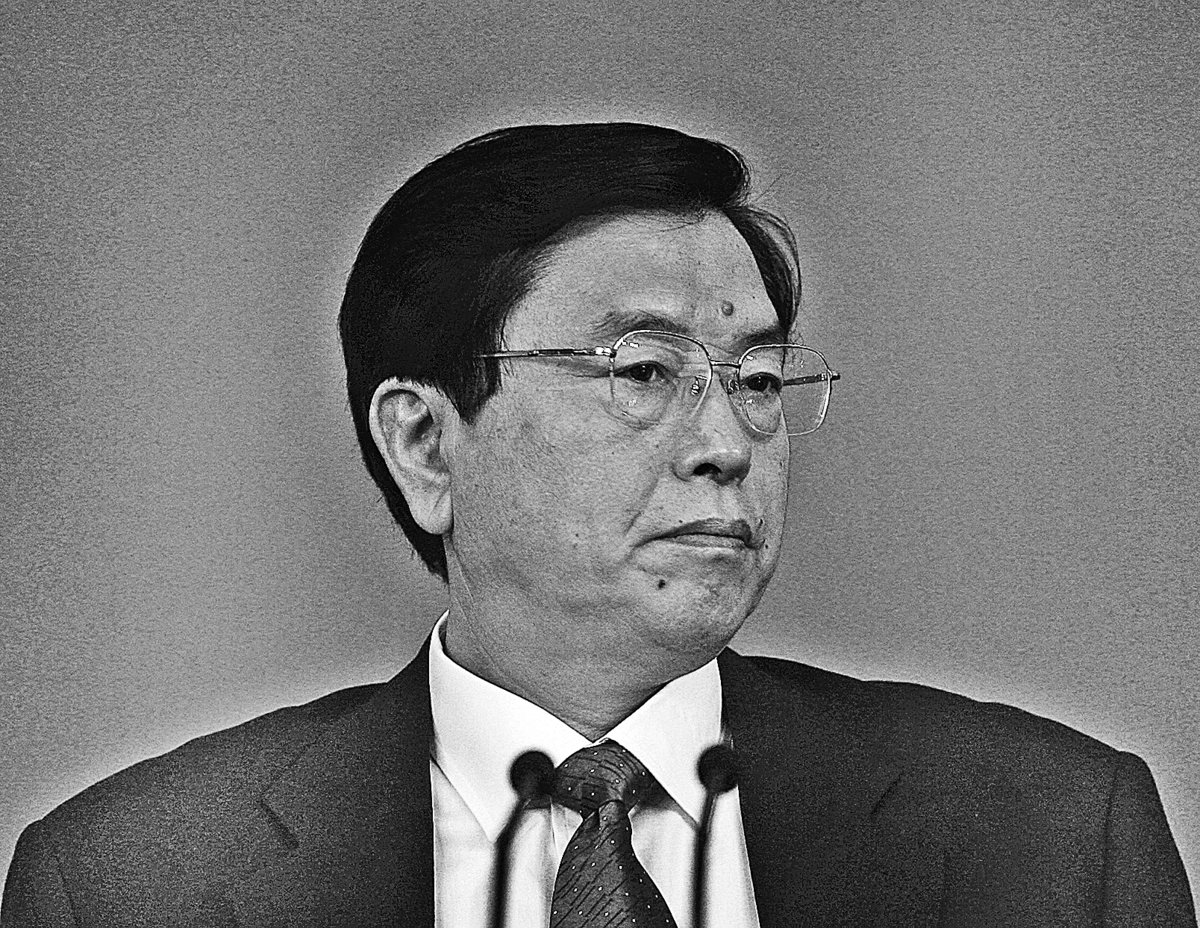 身兼人大委員長的江派政治局常委張德江被指圖用人大釋法來挑起矛盾,挑戰習近平陣營,他被整肅的訊號頻傳。(大紀元資料圖片)