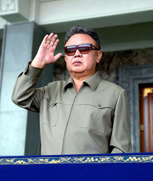 金正日。(HO: KCNA VIA KNS / AFP ImageForum)