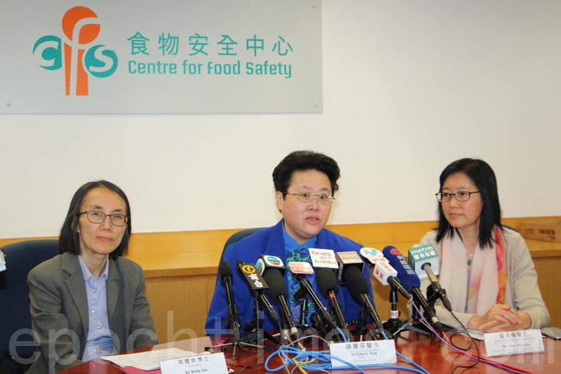 食物安全中心表示,截至昨日上午,已經回收約800公斤有問題大閘蟹。(蔡雯文/大紀元)