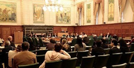 11月3日加拿大國會人權委員會舉行對中共大規模活摘良心犯器官牟利的更新證據的聽證會。(任僑生/大紀元)