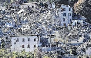 意大利最強地震土地移位70厘米