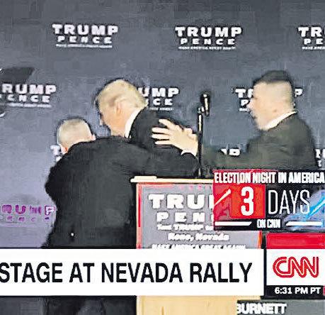 選前不平靜 集會有人 帶槍?特朗普有驚無險