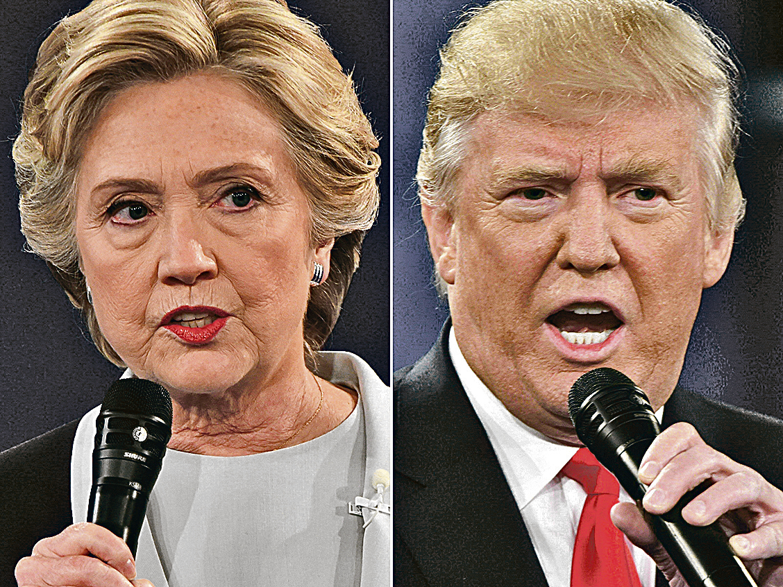 今年的兩名總統候選人都頗具爭議。(AFP)