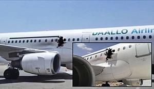 索馬里客機空中炸出大洞 2傷1墜亡