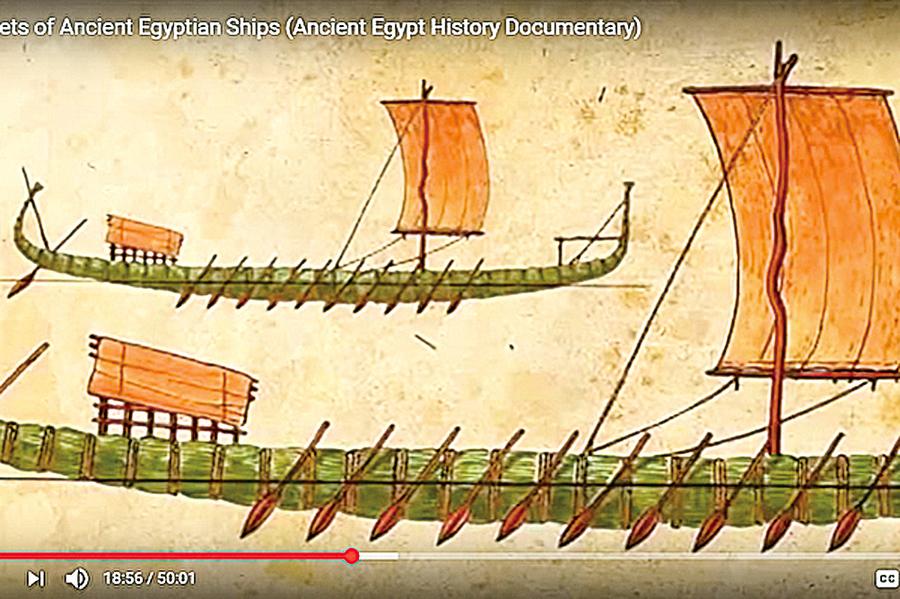 埃及發現四千年前壁畫 描繪古人造船驚人細節