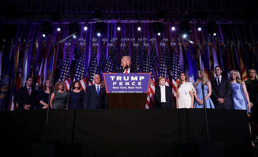 特朗普勝出美國總統大選。(Chip Somodevilla/Getty Images)