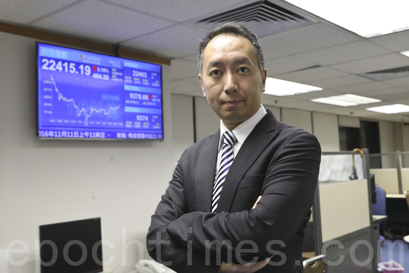 信誠證券董事張智威表示,港股後市難免再有探底機會,黃金避險受追捧,相信短期內會有一定空間。(余鋼/大紀元)