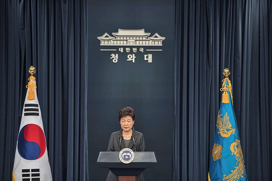 南韓大檢察廳負責調查「總統親信干政門」特別調查本部有關人士今天透露,檢方認為最遲也需要於15日或16日調查總統朴槿惠。(Getty Images)