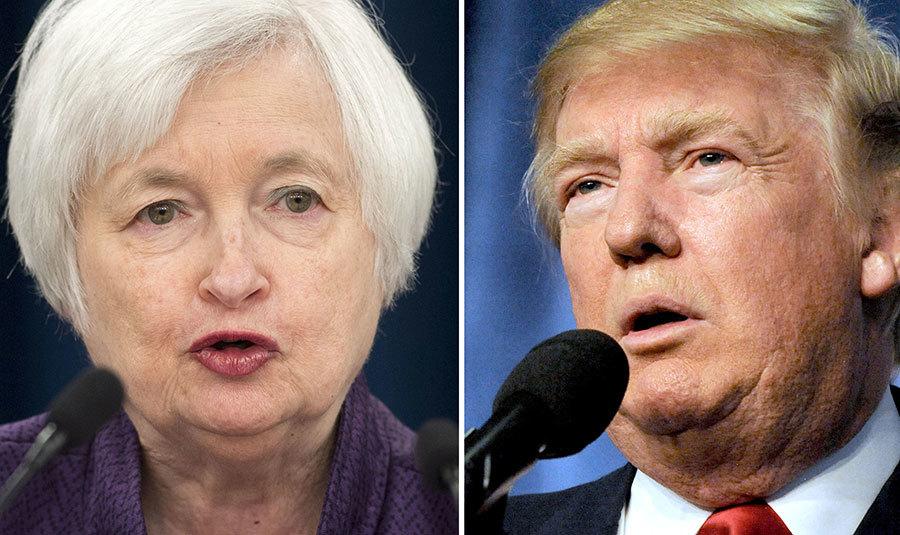 特朗普上任後,在任內有機會任命美聯儲四名委員,包括耶倫的繼任者,這意味著特朗普對美聯儲政策有極大的影響力。(DESK/AFP/Getty Images)