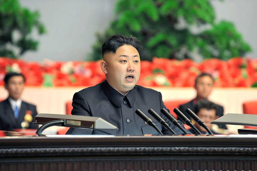 金正恩。(KNS/KCNA/AFP)