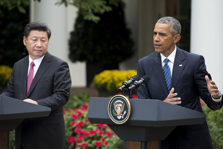 美國總統奧巴馬將於下周造訪三國,與歐洲主要盟國領袖及中國大陸國家主席習近平會面,希望在特朗普出人意表當選後,向各領導人派「定心丸」。這是奧巴馬任內最後一次外訪。圖為去年9月習近平訪美時二人在新聞發佈會上。(AFP/Getty Images)