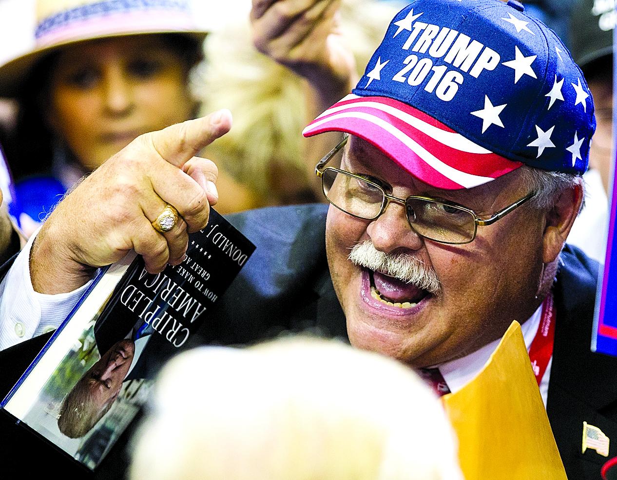 未受高等教育的白人男性被認為是特朗普最忠實的支持群體。(Getty Images)