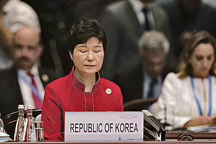 南韓總統朴槿惠深陷政治醜聞。(Getty Images)