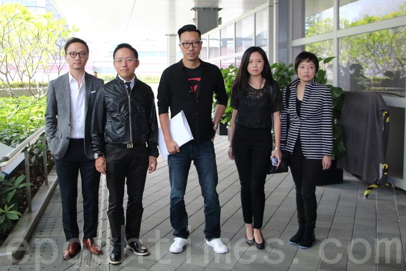 龔耀輝夥拍4人參加會計界選委,他希望與民主派另外兩張「反梁」名單一起全數當選。(蔡雯文/大紀元)