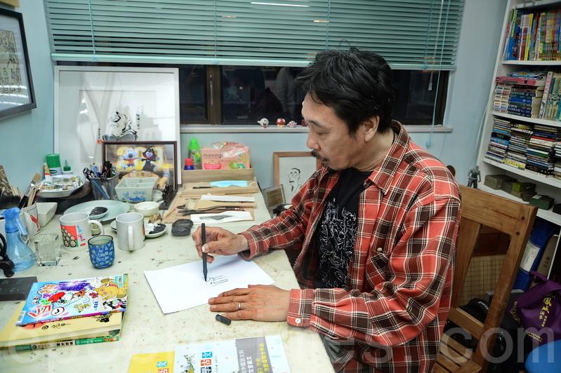 香港漫畫家馬龍。(圖/宋碧龍)