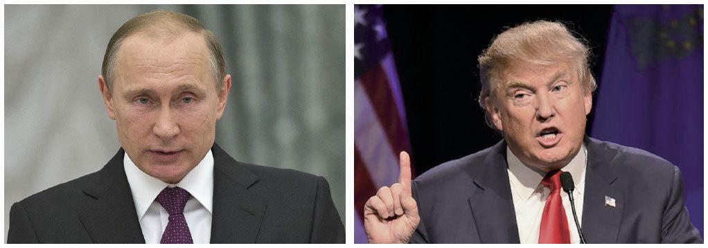 特朗普(右)與普京(左)星期一(11月14日)進行了電話會談。兩人同意繼續保持電話聯繫,重新評估美俄關係,並在將來面對面會晤。(Getty Images)