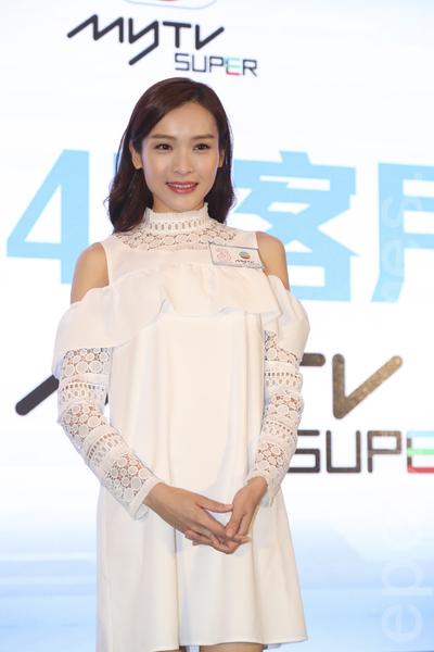 李佳芯和王浩信合作拍新劇,會有親熱戲。(余鋼/大紀元)