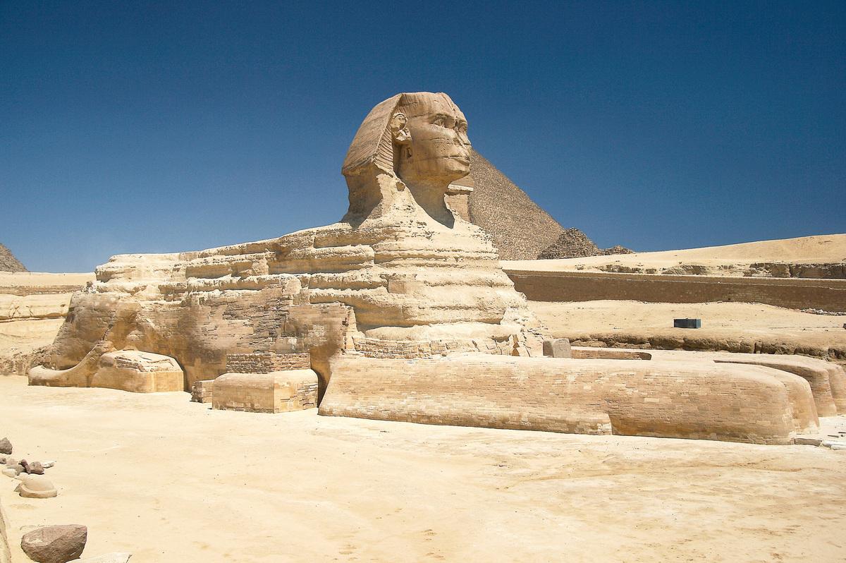 埃及吉薩高原的獅身人面像。( Barcex/維基百科)
